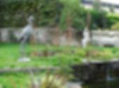 aménagement de jardin avec des sculptures angers laure duquesne sculpteur