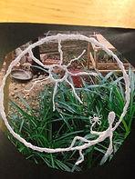 sculpture fil de fer et plâtre sous forme de mobile angers
