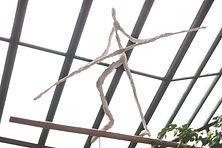 sculpture de grande taille pour hall d'acceuil en fil de fer et plâtre angers laure duquesne sculpteur