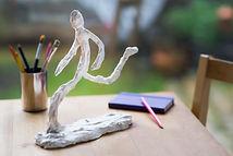 sculpture réalisée en fil de fer et plâtre angers laure duquesne
