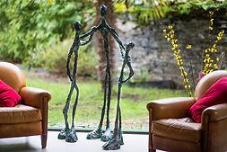 Sculpture de grande taille en fil de fer et plâtre patiné angers laure duquesne sculpteur