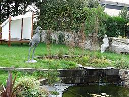 Exposition  de sculptures pour l'extérieur d'animaux et de personnages angers laure duquesne