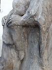 détail sculpture, les mains, laure duquesne angers