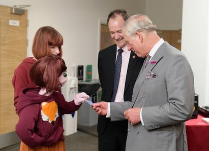 We met Prince Charles as part of the opening of the Princestrust
