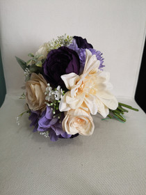 lilac, eggplant and ivory bouquet