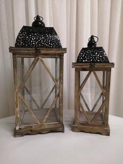 XL rustic lanterns