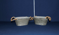 galvanized pales with handles
