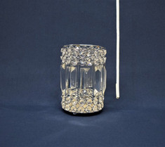 silver clear gem candleholder