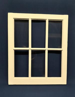 small white rustic window