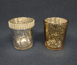 silver and gold votives