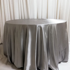silver satin tablecloth