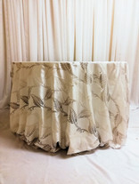 silver leaf tablecloth