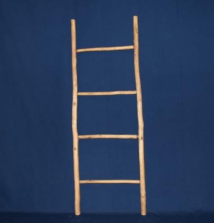 half rustic carved ladder