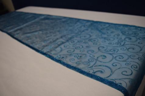 blue swirl runner