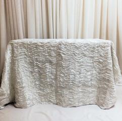 white ruffle tablecloth