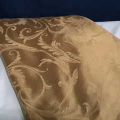 taupe damask linen