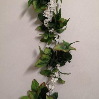 white greenery garland