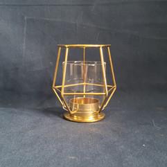 gold geometric votive
