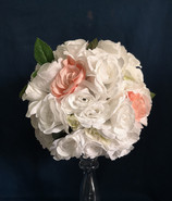 white blush pink flower ball