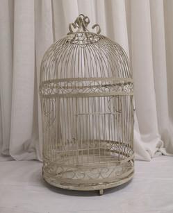 beige birdcage