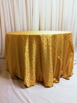 gold mosaic tablecloth