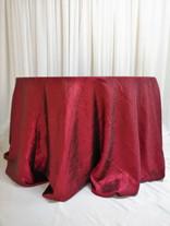 burgundy crinkle tablecloth