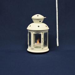 round cream lantern