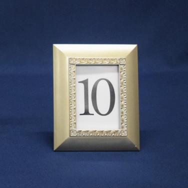 soft gold frame table number