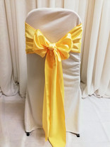 soft yellow chair tie