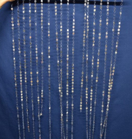silver bling curtains