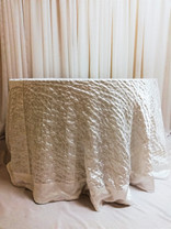 white french pleated tablecloth