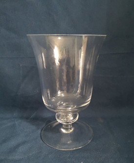 clear foot vase