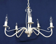 cream chandelier