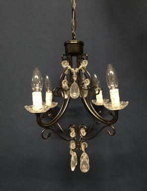 black vintage gem chandelier