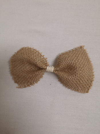 small burlap bows