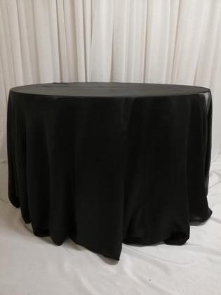 black satin tablecloth