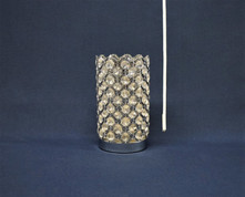 silver bling shade candle holder