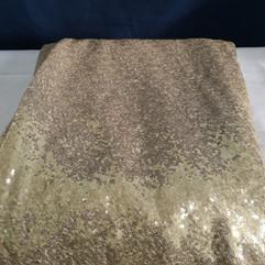 soft gold sequins linen