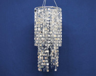 silver bling chandelier
