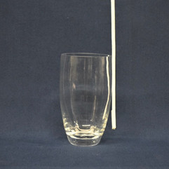 clear oval cylinder vase