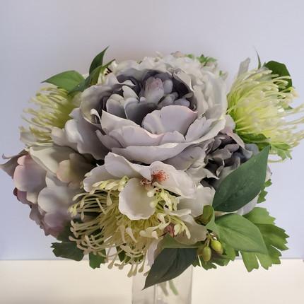 dusty blue bouquet