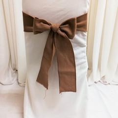tight burlap chair tie