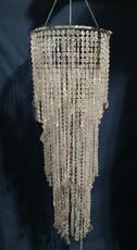 clear beaded gems chandelier