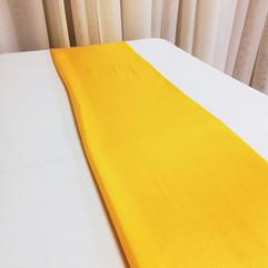 canary yellow satin runner
