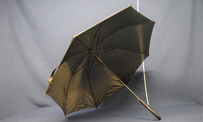 large black umbrellas