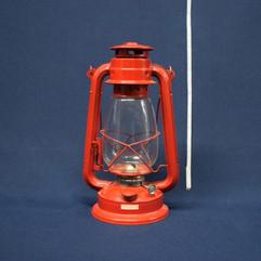 camping lantern red