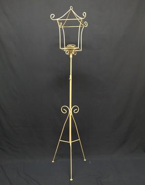 wrought iron cream floor lantern