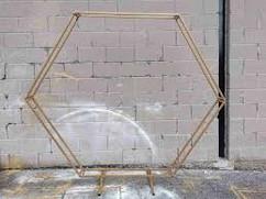 gold hexagon arch