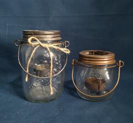 hanging mason jar candle holder