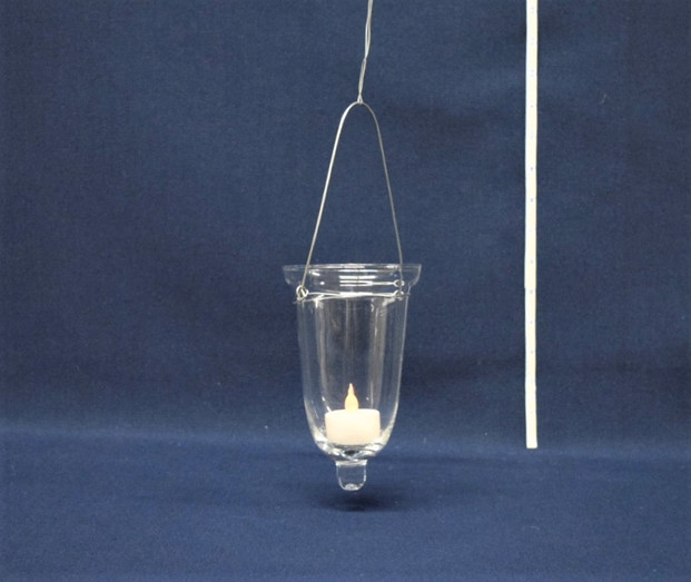 hanging glass candleholder